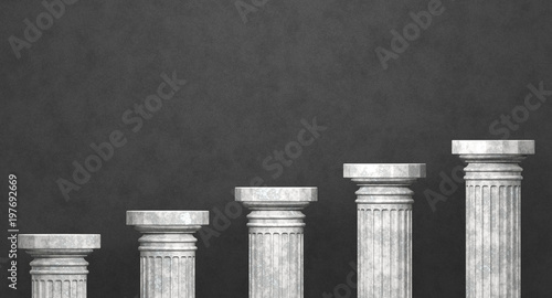 Fotografía  Fünf Säulen - Aufstieg - Wachstum