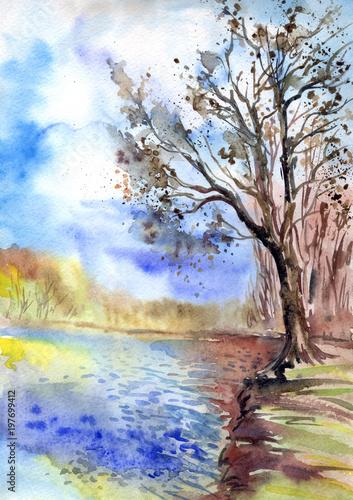 drzewo-nad-brzegiem-stawu