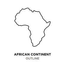 African Continent Outline On W...