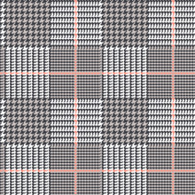 Glen Plaid Vector Pattern In B...