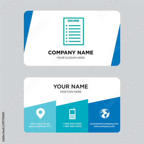 User guide business card design template visiting for your company user guide business card design template visiting for your company modern creative and clean reheart Choice Image