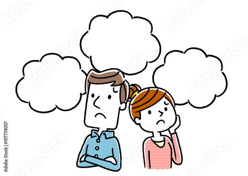 Obraz na plátně 夫婦:不安、心配、将来
