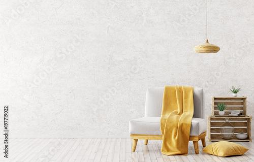 Fotografie, Obraz  Interior of living room with armchair 3d rendering