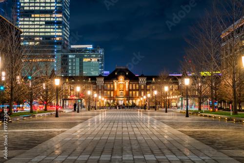 東京丸の内 行幸通りの夜景