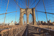 Brooklyn Bridge in a beautiful day, New York