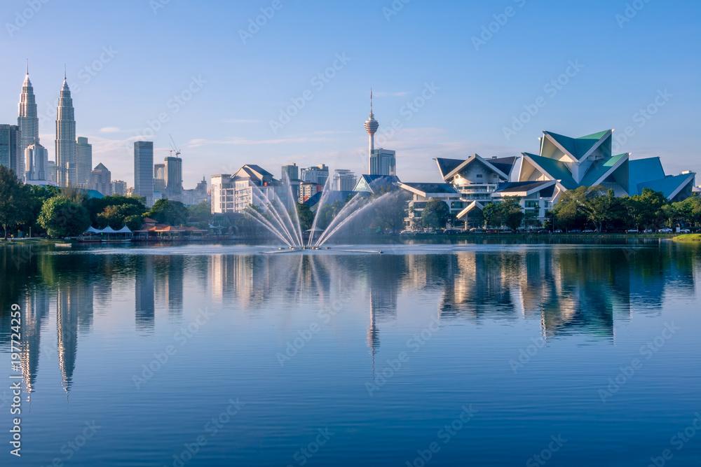 Fotografie, Obraz  Morning in Kuala Lumpur