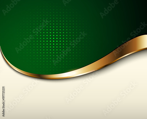 Business background, green and beige
