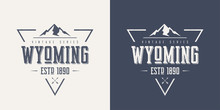 Wyoming State Textured Vintage...