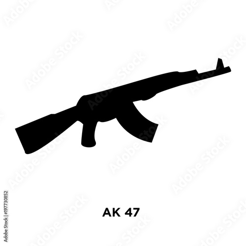 ak47 silhouette on white background vector illustration buy this