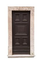 Old Carved Brown Wooden Door I...