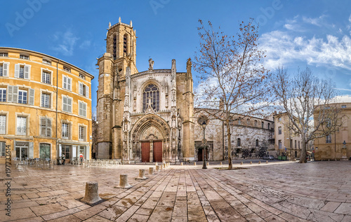The Cathedral of the Holy Saviour in Aix-en-Provence, Bouches-du-Rhone, France Canvas Print