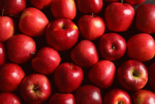 Fresh Ripe Red Apples As Backg...