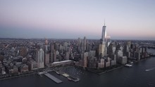 New York City Aerial View Over...