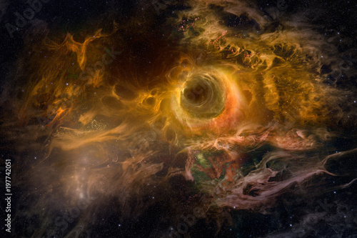 Star space with fiery nebula as hi res background