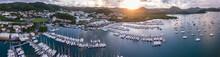 Le Marin (Martinique), Drone Footage At Sunrise