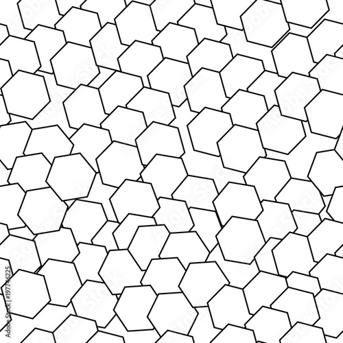 Cotton fabric seamless pattern vector with abstract black shapes