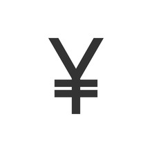 Yuan, Yen Sign. Flat Design. Vector Illustration.