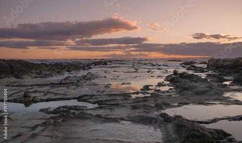 Foto op Canvas Candy roze 葉山一色海岸の夕日