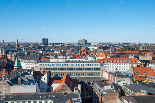 View over city of Copenhagen Denmark Canvas Print