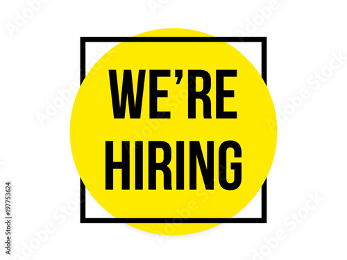 We Are Hiring Quotes: We Are Hiring Message Quote In Megaphone Badge Isolated On