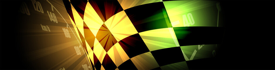 Fototapeta Racing square background, vector illustration abstraction in car track