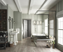 Elegant Bathroom Interior With...