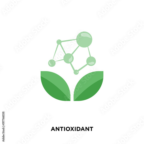 Fototapeta antioxidant icon isolated on white background for your web, mobile and app design obraz
