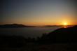 Sunset on Sea Coast Landscape in Naxos, Greece