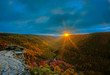 canvas print picture - West Virginia sunset in Fall