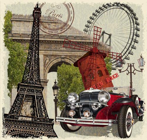 Paryż rocznika plakatu.