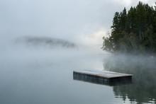 Floating Dock In Fog