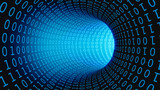 Fototapeta Perspektywa 3d - Binary Code Data Transmission