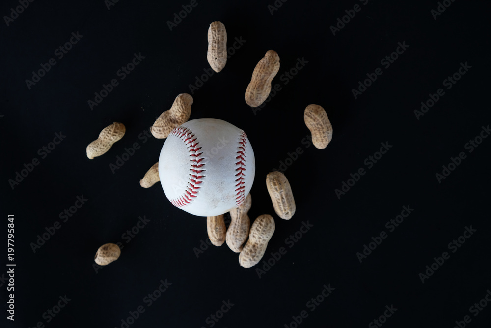 ec8be8f28374 Photo   Art Print Baseball isolated on black background for sport graphic.