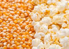 Raw Golden Sweet Corn And Popc...