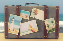 Image Of Old Vintage Luggage W...