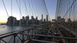 Cars driving on Brooklyn Bridge