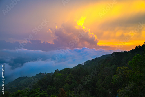 Papiers peints Morning Glory colourful cloudy sunset landscape