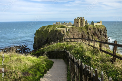 Dunnottar Castle ruins Wallpaper Mural