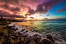 Amazing Sky Over Hawaii's North Shore Of Oahu