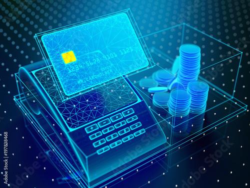Tablou Canvas Technology of modern digital banking