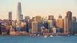 San Francisco skyline on sunrise, California