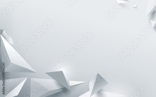 abstract-white-3d-polygonal-background-vector-illustration