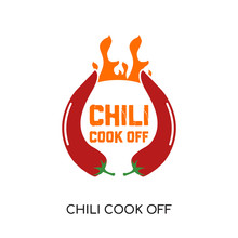 Chili Cook Off Logo Isolated O...