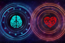 Heart And Brain. Digital Inter...