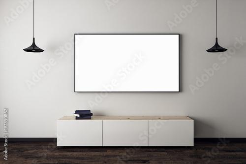 Fotografía  New living room with empty TV