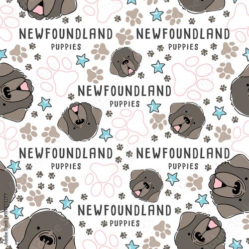 Printed kitchen splashbacks Illustrations Dog breed collection : Seamless Pattern : Vector Illustration