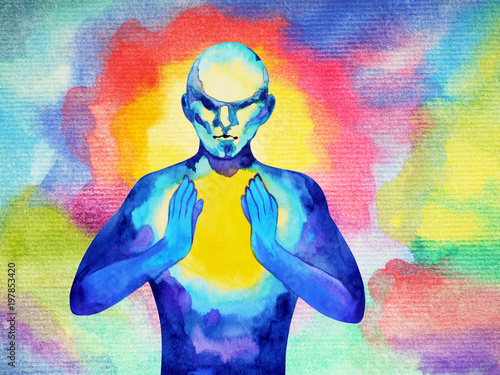 Human And Spirit Powerful Energy Connect To The Universe