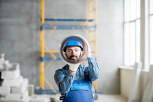 Funny Portrait Of A Builder Lo...
