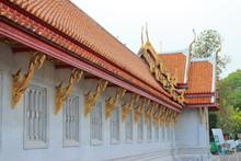 The Bangkok Marble Temple, Wat Benchamabophit Dusit Wanaram. Bangkok, Thailand