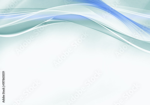 Photo Stands Abstract wave Elegant blue and turcoise abstract background design with space for your text